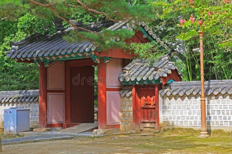 Capilla de Corea Jeonju Gyeonggijeon foto de archivo
