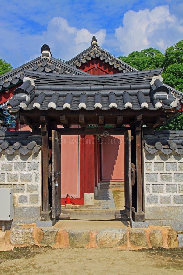 Capilla de Corea Jeonju Gyeonggijeon imágenes de archivo libres de regalías