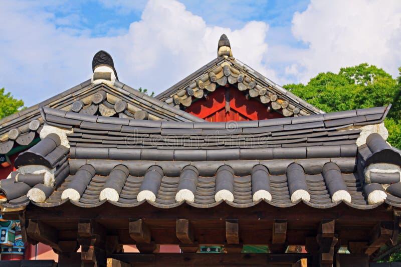 Capilla de Corea Jeonju Gyeonggijeon imagen de archivo libre de regalías