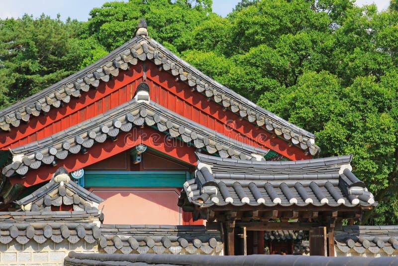Capilla de Corea Jeonju Gyeonggijeon fotografía de archivo libre de regalías