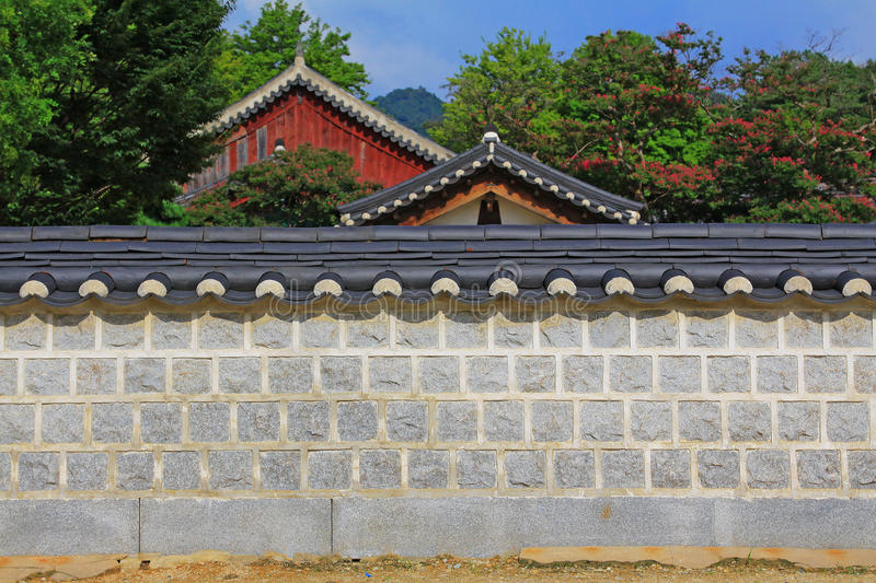 Capilla de Corea Jeonju Gyeonggijeon foto de archivo libre de regalías
