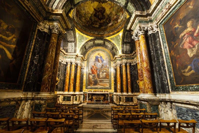 Capilla de Cybo, Santa Maria del Popolo Church roma Italia imagen de archivo libre de regalías