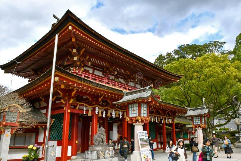 Capilla de Dazaifu Tenmangu en la prefectura de Fukuoka imágenes de archivo libres de regalías