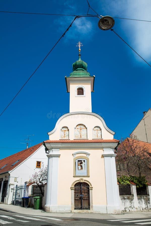 Capilla de Dismas construida en 1706 y dedicada al buen ladrón que fue crucificado junto a Jesús fotografía de archivo