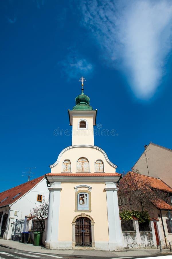 Capilla de Dismas construida en 1706 y dedicada al buen ladr?n que fue crucificado junto a Jes?s fotografía de archivo libre de regalías