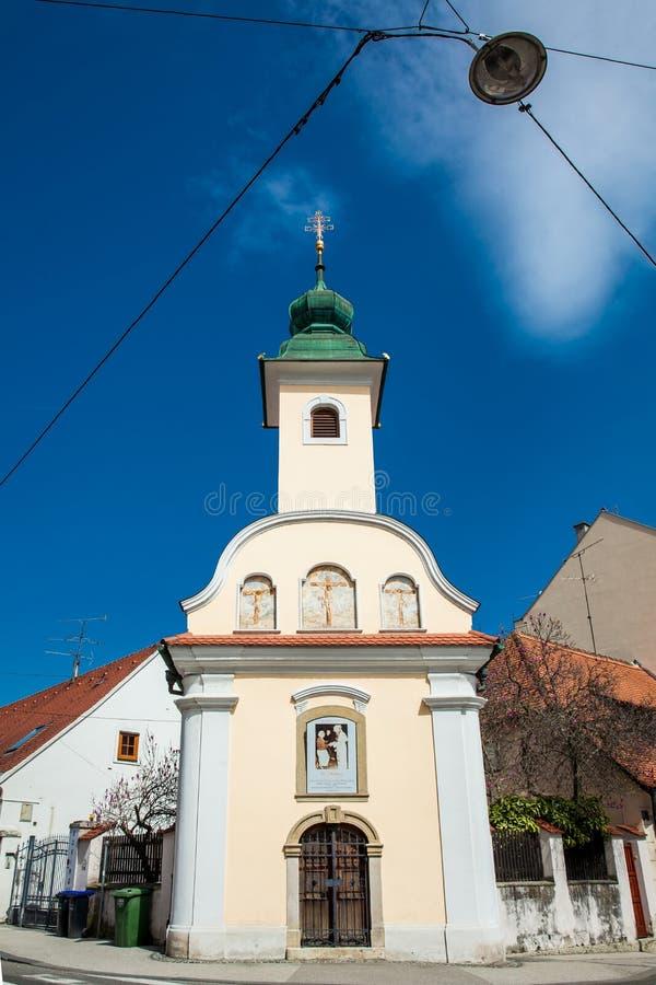 Capilla de Dismas construida en 1706 y dedicada al buen ladr?n que fue crucificado junto a Jes?s foto de archivo libre de regalías