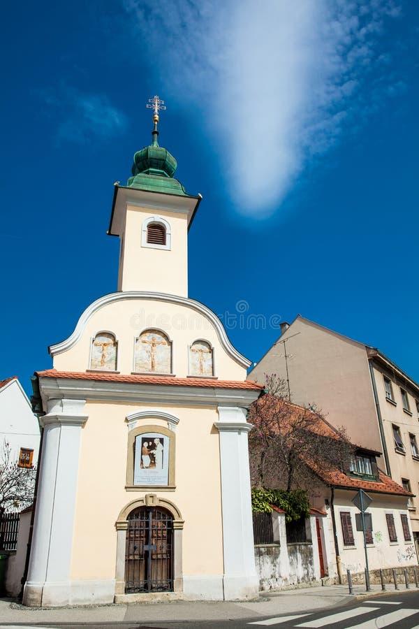 Capilla de Dismas construida en 1706 y dedicada al buen ladr?n que fue crucificado junto a Jes?s fotos de archivo libres de regalías