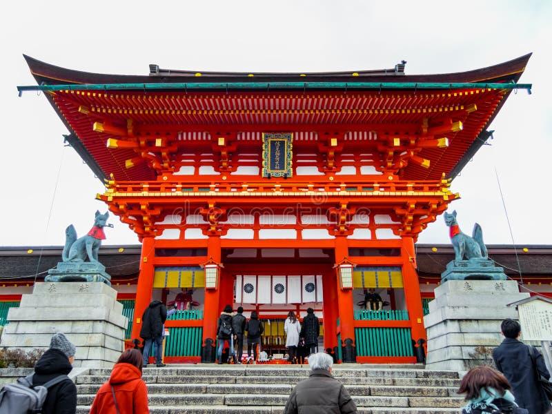 Capilla de Fushimi Inari-taisha imágenes de archivo libres de regalías
