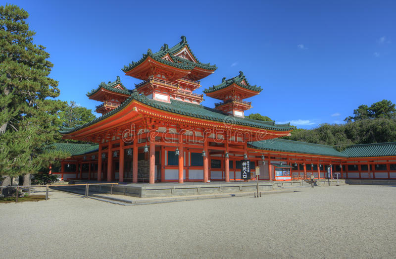 Capilla de Heian foto de archivo libre de regalías