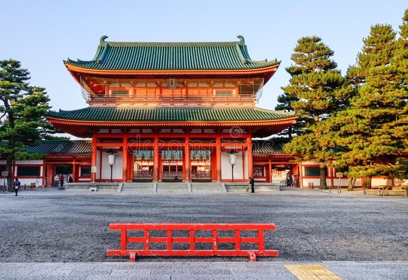Capilla de Heian en Kyoto, Japón imagen de archivo