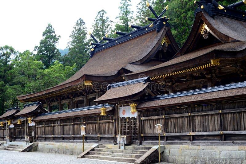 Capilla de Hongu Taisha, en Kumano Kodo, Kansai, Japón fotos de archivo libres de regalías