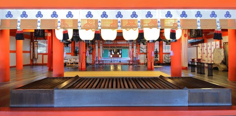 Capilla de Itsukushima fotos de archivo