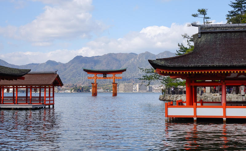 Capilla de Itsukushima en Hiroshima, Japón fotos de archivo