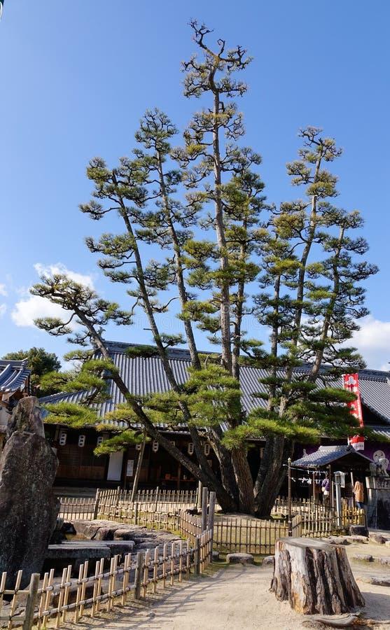 Capilla de Itsukushima en Hiroshima, Japón foto de archivo libre de regalías