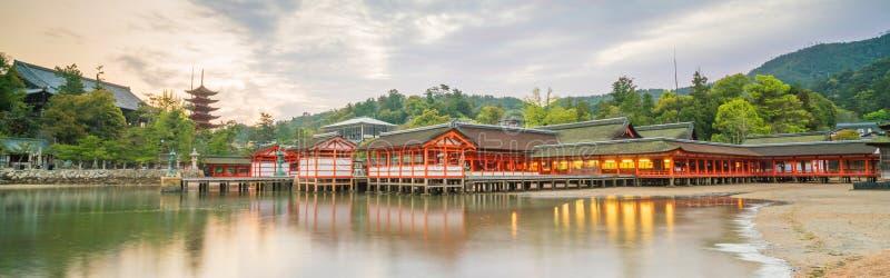 Capilla de Itukashima en la isla de Miyajima, prefectura de Hiroshima imagen de archivo libre de regalías