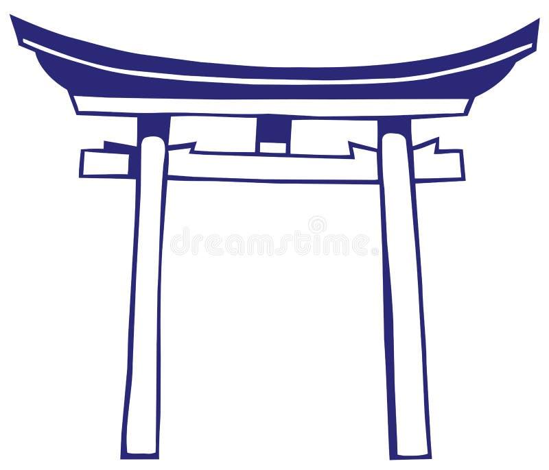 Capilla de Japón ilustración del vector