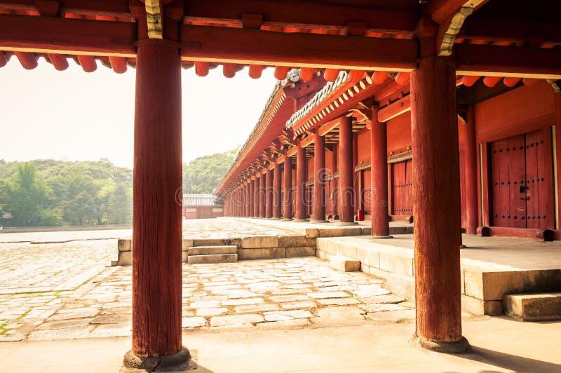 Capilla de Jongmyo fotos de archivo
