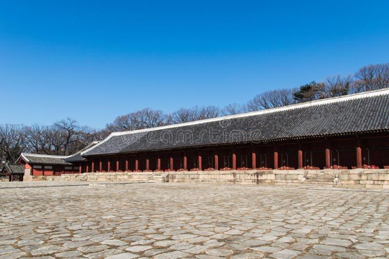 Capilla de Jongmyo foto de archivo libre de regalías