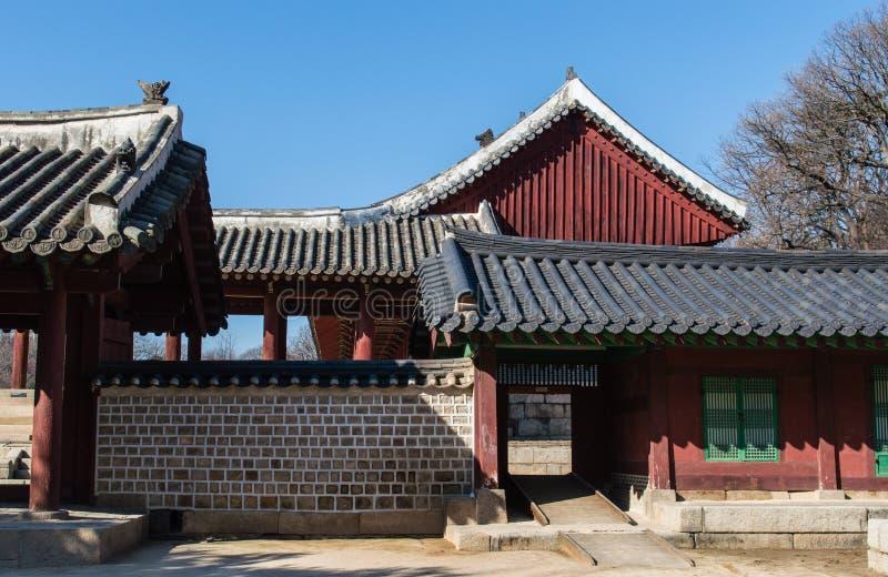 Capilla de Jongmyo foto de archivo