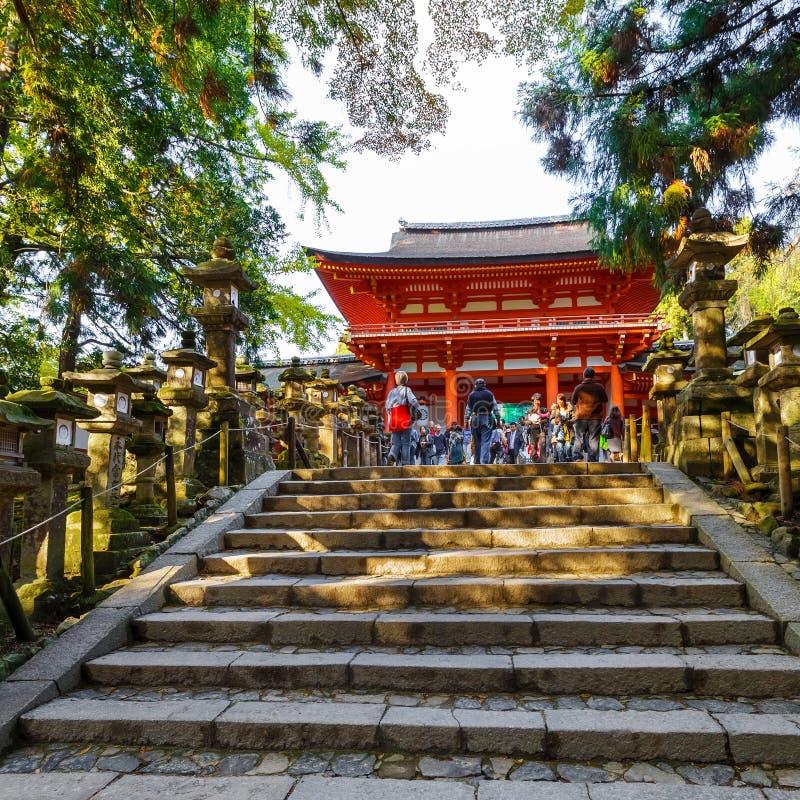 Capilla de Kasuga Taisha en Nara fotos de archivo libres de regalías