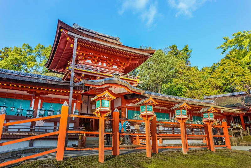 Capilla de Kasuga Taisha en Nara imagen de archivo