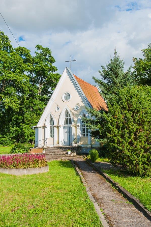 Capilla de la boda, capilla en naturaleza, peque?a capilla imagen de archivo