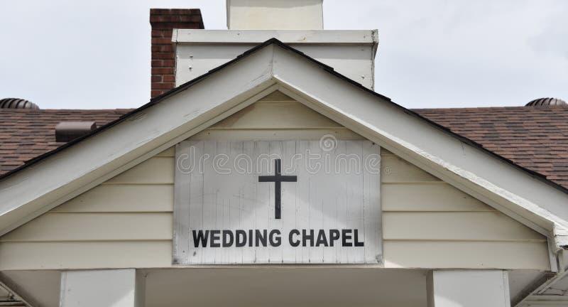 Capilla de la boda para las ceremonias de matrimonio imagen de archivo