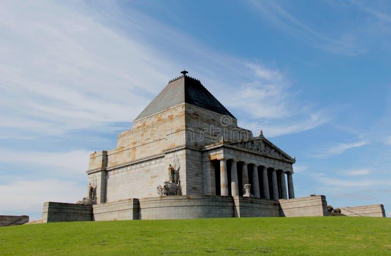 Capilla de la conmemoración en Melbourne, Australia foto de archivo libre de regalías