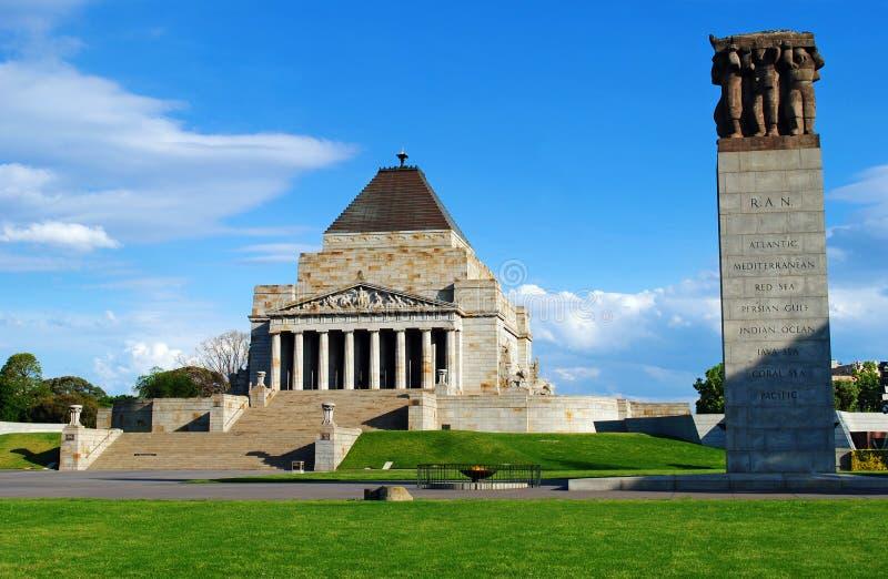 Capilla de la conmemoración Melbourne foto de archivo libre de regalías