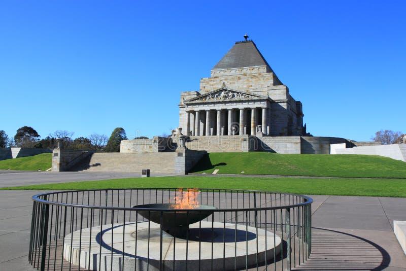Capilla de la conmemoración Melbourne imagen de archivo