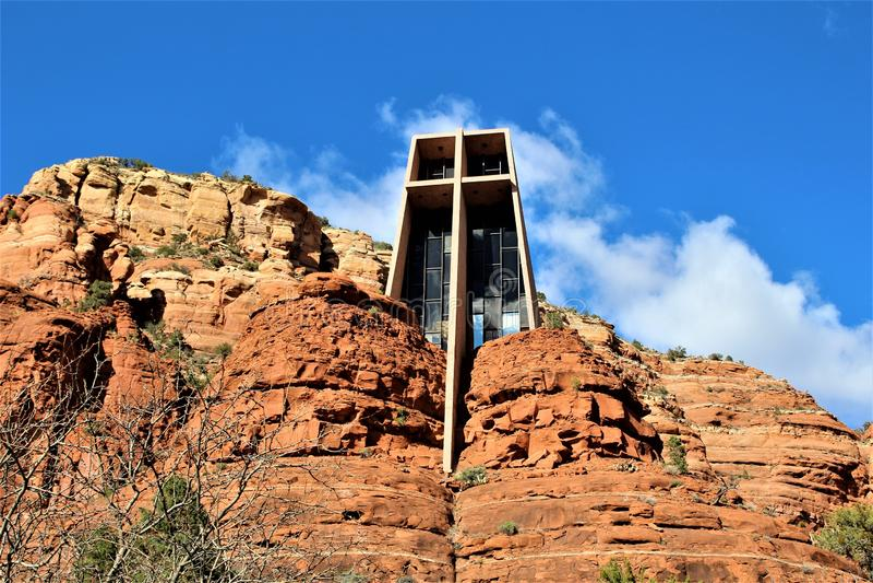 Capilla de la cruz santa, Sedona, Arizona, Estados Unidos fotos de archivo