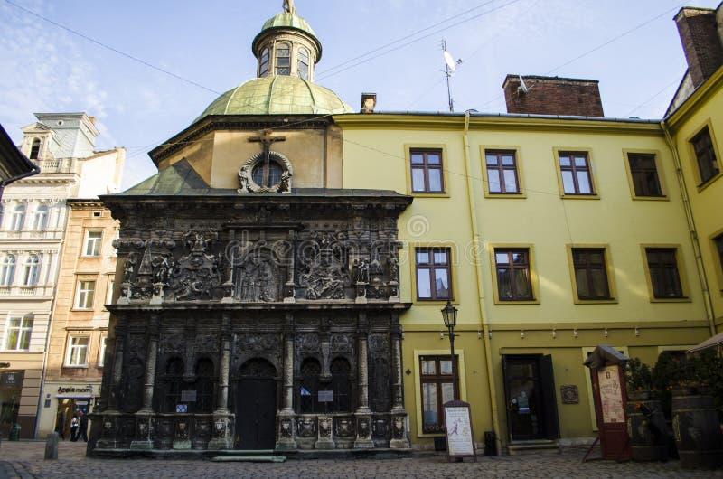 Capilla de la familia de Boim, centro histórico de Lviv, Ucrania Patrimonio mundial de la UNESCO imágenes de archivo libres de regalías