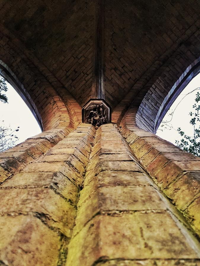 Capilla de la iglesia de la arquitectura abandonada en Lincolnshire Boston imagen de archivo