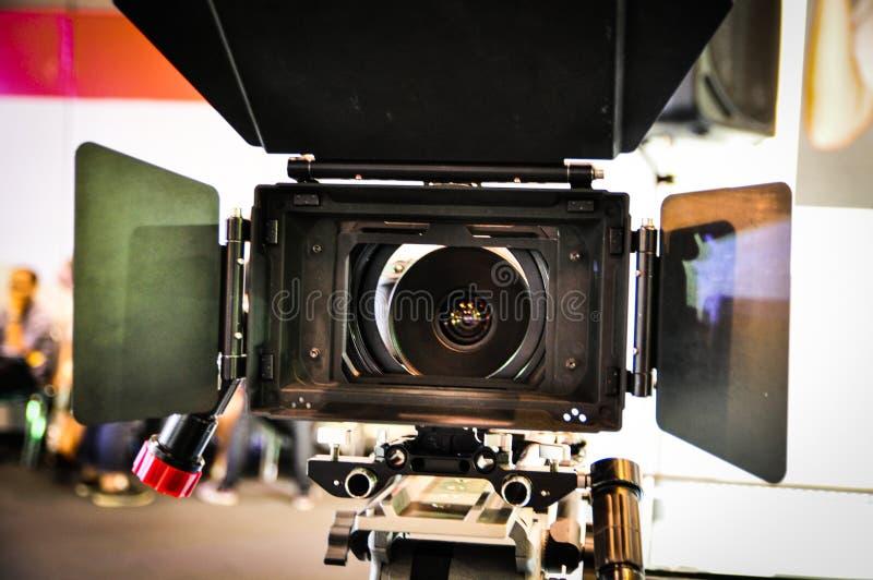 Capilla de lente video de la cámara en cierre para arriba fotografía de archivo
