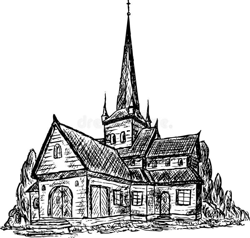 Capilla de madera libre illustration