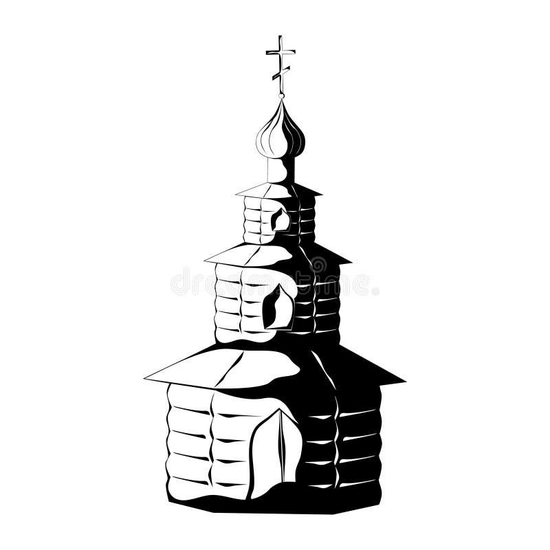 Capilla de madera vieja ilustración del vector