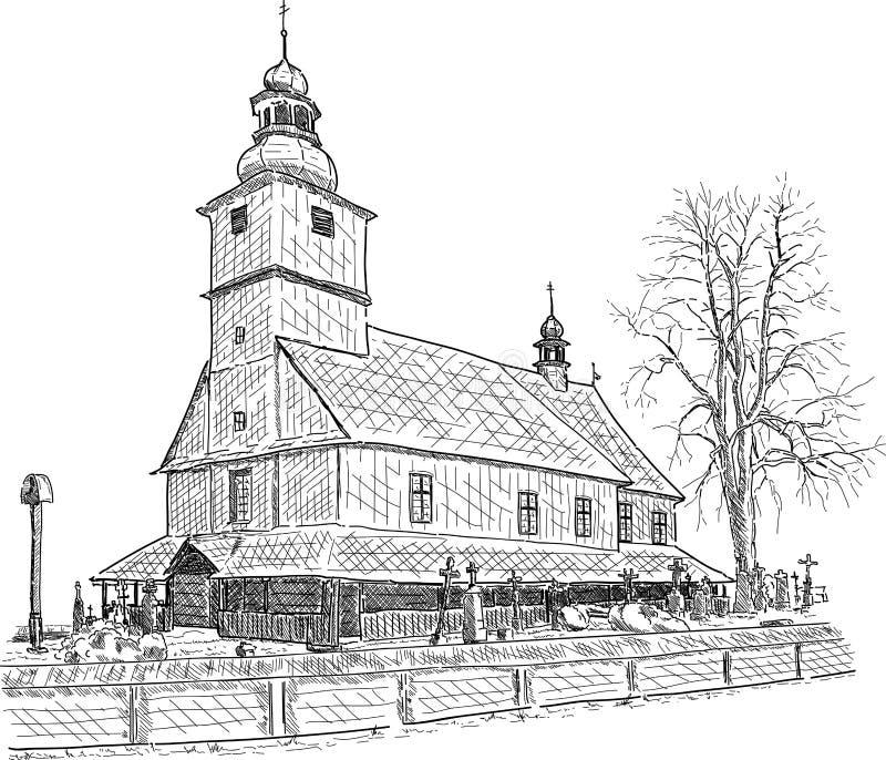 Capilla de madera vieja libre illustration