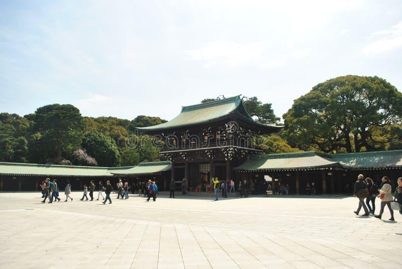 Capilla de Meiji Jingu imágenes de archivo libres de regalías