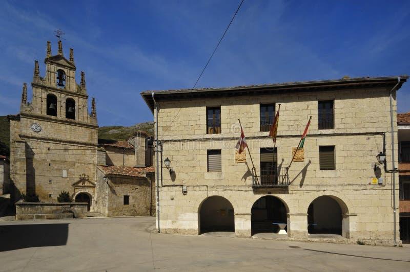 Capilla de nuestra señora del valle, Monasterio de Rodilla, La Bure fotografía de archivo libre de regalías