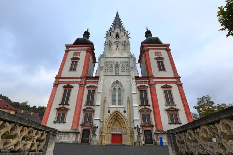 Capilla de nuestra señora en la ciudad Mariazell y x28; Mariazell Basilica& x29; en Austria imagenes de archivo