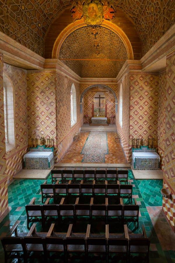 Capilla de Palatine, palacio nacional de Sintra fotos de archivo
