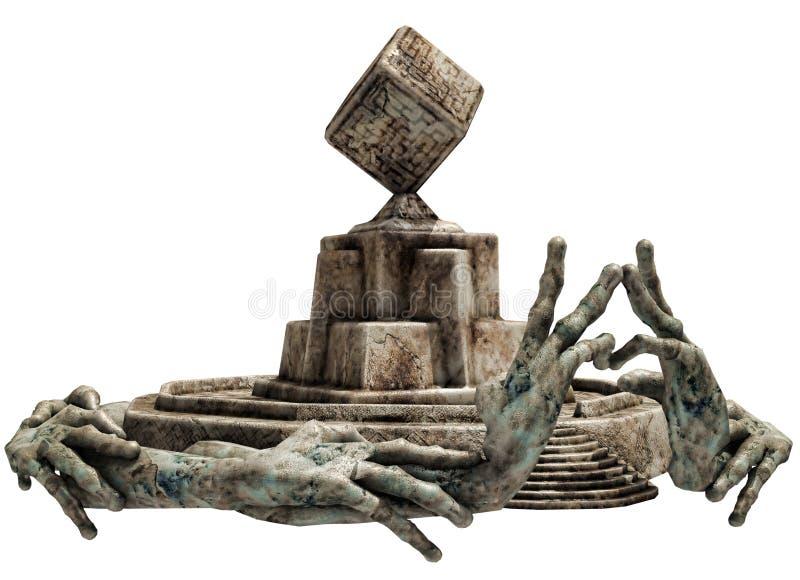 Capilla de piedra de la fantasía stock de ilustración