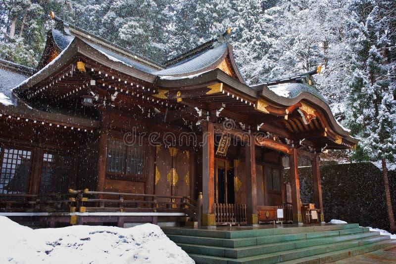 Capilla de Sakurayama Hachimangu foto de archivo
