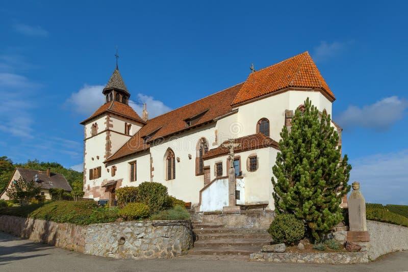 Capilla de Sebastien del santo, Dambach-la-Ville, Alsacia fotografía de archivo libre de regalías