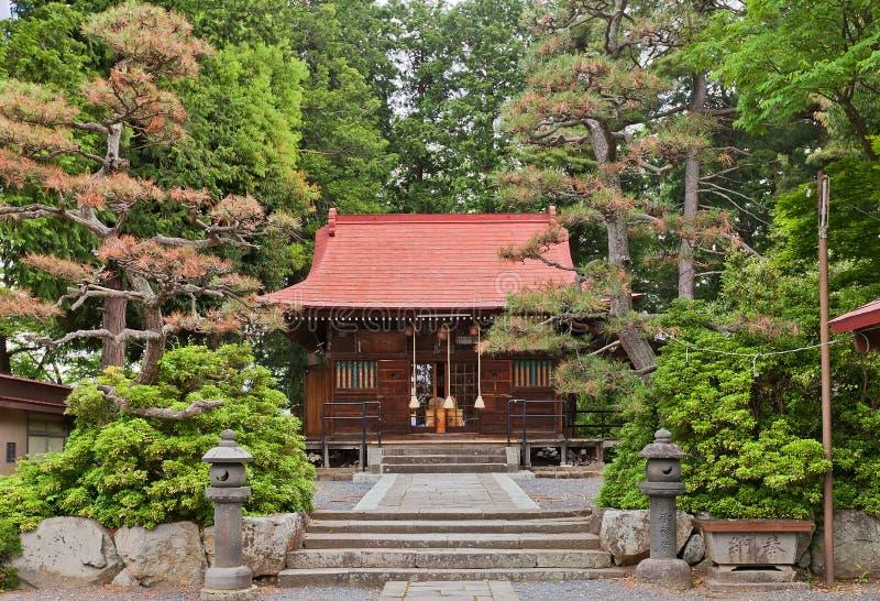 Capilla de Tsukioka en el castillo de Kaminoyama, prefectura de Yamagata, Japón fotos de archivo libres de regalías