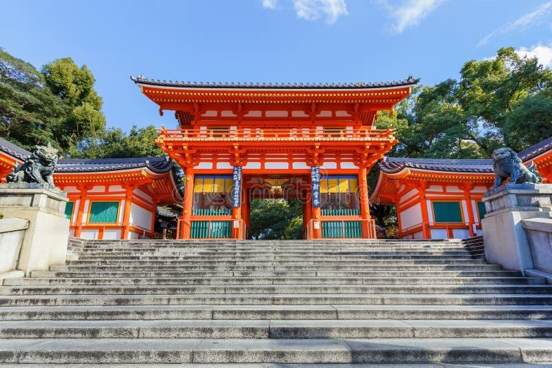Capilla de Yasaka en Kyoto, Japón imagen de archivo