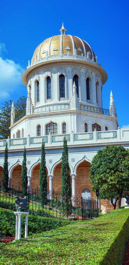 Capilla del Bab y de los jardines colgantes, Haifa fotos de archivo libres de regalías