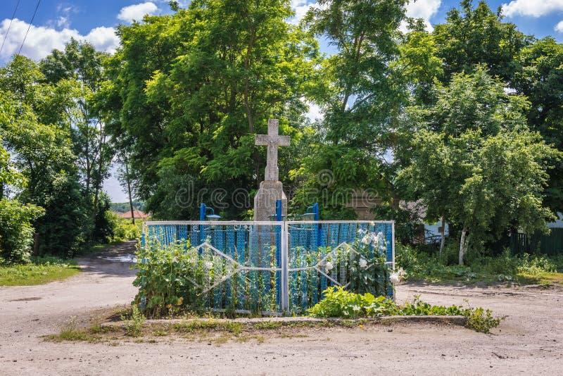 Capilla del borde del camino en Ucrania fotos de archivo libres de regalías