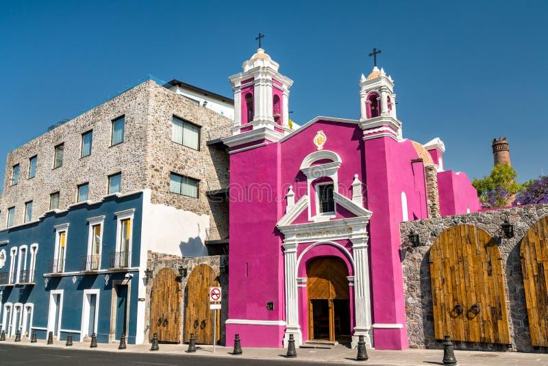 Cirineo Chapel in Puebla, Mexico. Capilla del Cirineo, a chapel in Puebla, Mexico royalty free stock photography