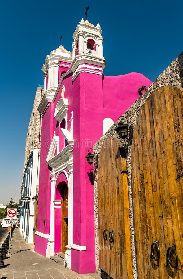 Cirineo Chapel in Puebla, Mexico. Capilla del Cirineo, a chapel in Puebla, Mexico royalty free stock image